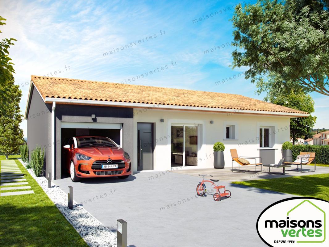 Maisons + Terrains du constructeur MAISONS VERTES • 82 m² • ROUBIA