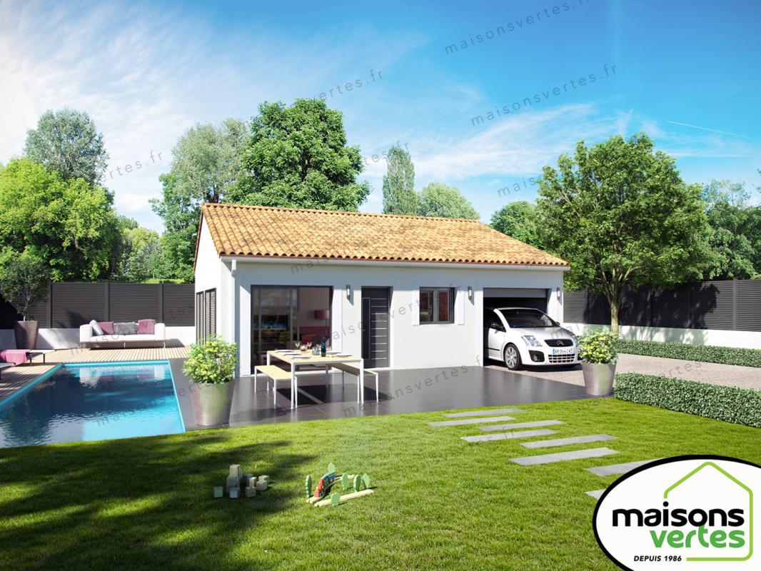 Maisons + Terrains du constructeur MAISONS VERTES • 73 m² • HOMPS
