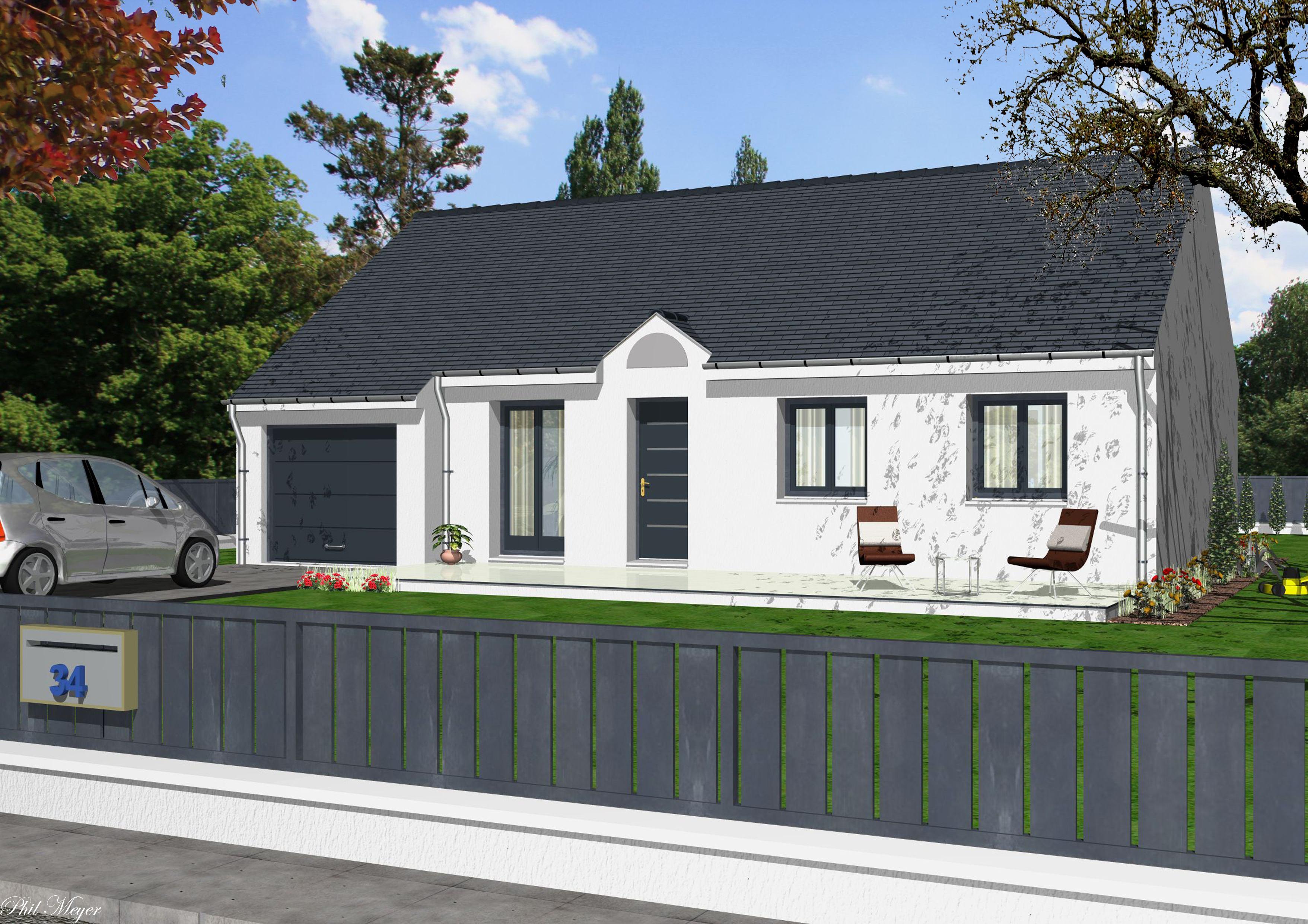 Maisons + Terrains du constructeur MAISONS RVE 78 • 78 m² • COURGENT