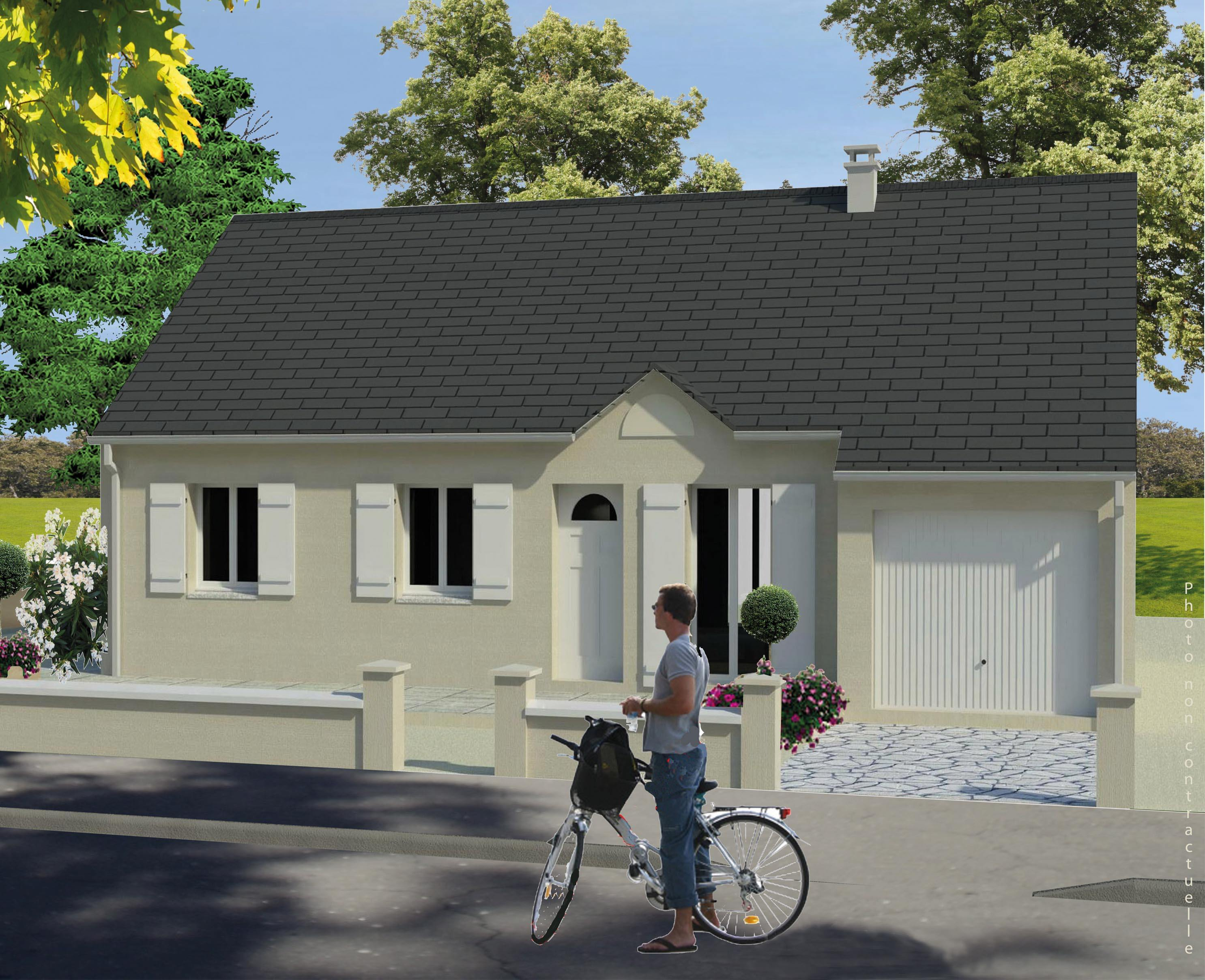 Maisons + Terrains du constructeur MAISONS RVE 78 • 79 m² • FONTENAY MAUVOISIN
