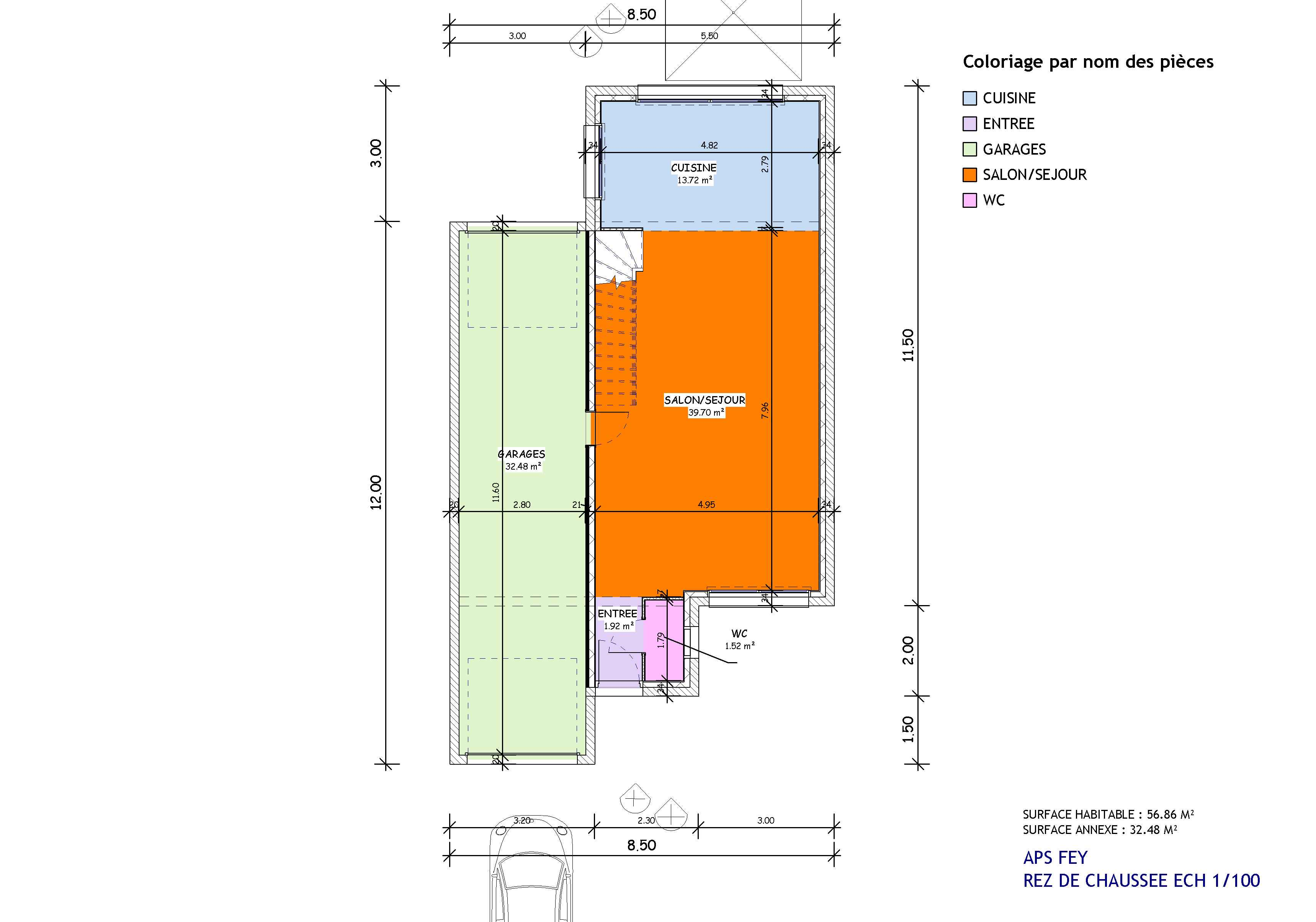 Maisons + Terrains du constructeur TRADISTYL CONSTRUCTIONS • 115 m² • FEY