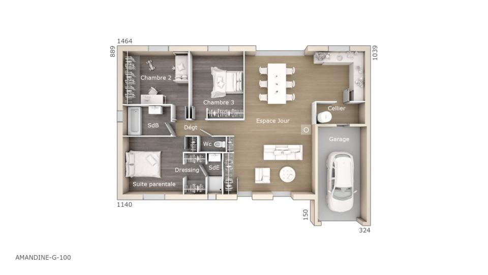 Maisons + Terrains du constructeur MAISONS DE MANON • 100 m² • FITOU