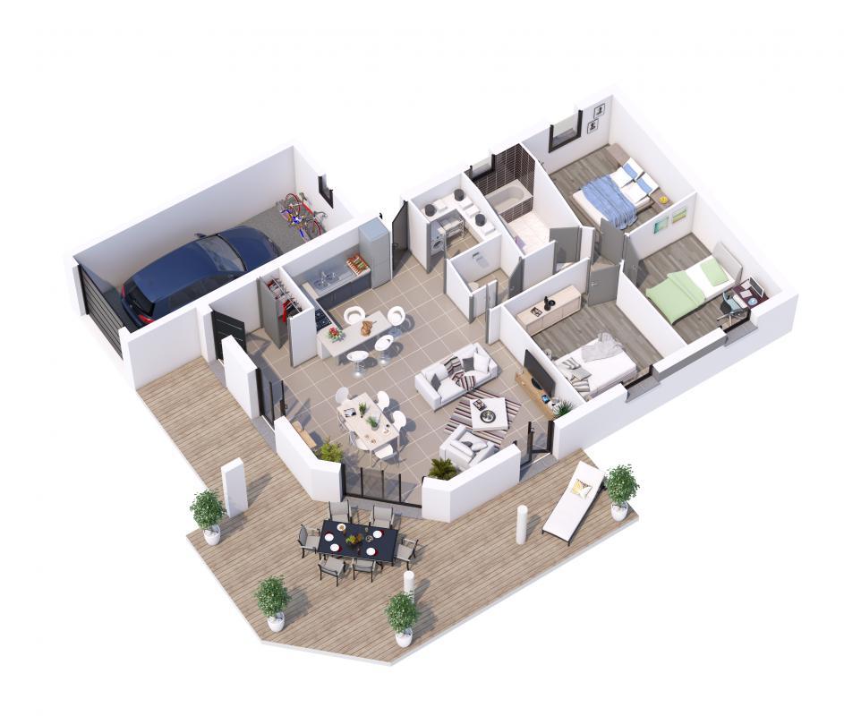 Terrains du constructeur MAISONS LIBERTE • 500 m² • LES PETITS ROBINS