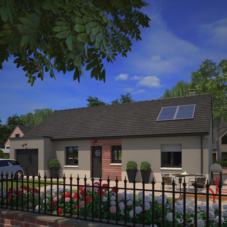 Maisons + Terrains du constructeur MAISONS FRANCE CONFORT • 90 m² • MAZINGARBE