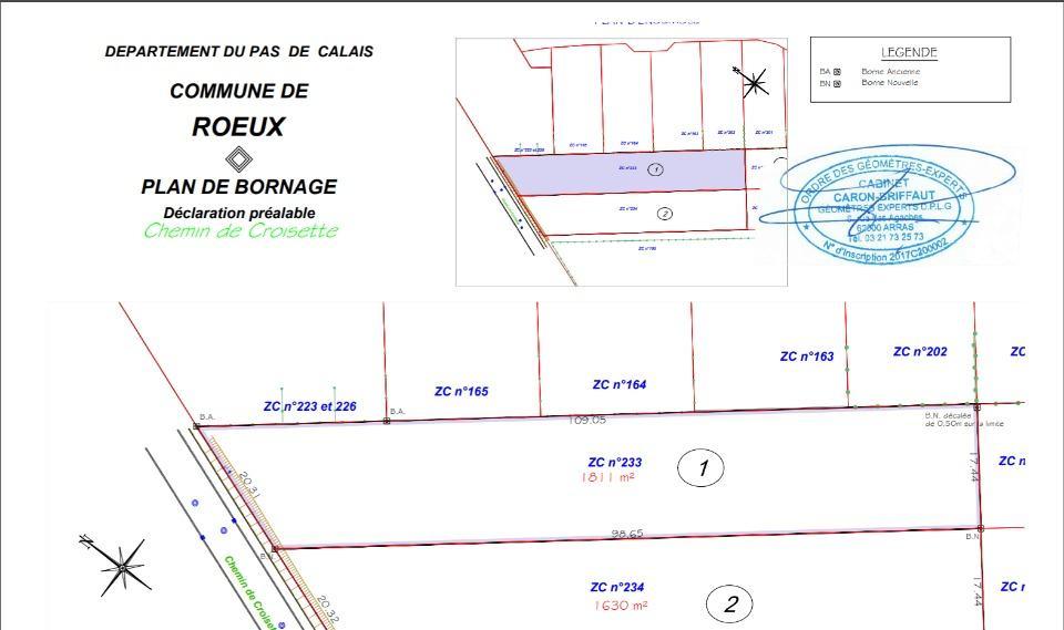 Terrains du constructeur MAISONS FRANCE CONFORT • 1846 m² • ROEUX