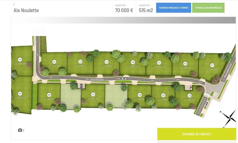 Terrains du constructeur MAISONS FRANCE CONFORT • 515 m² • AIX NOULETTE