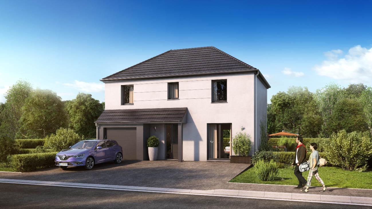 Maisons + Terrains du constructeur MAISON FAMILIALE VILLE DU BOIS • 102 m² • ETRECHY