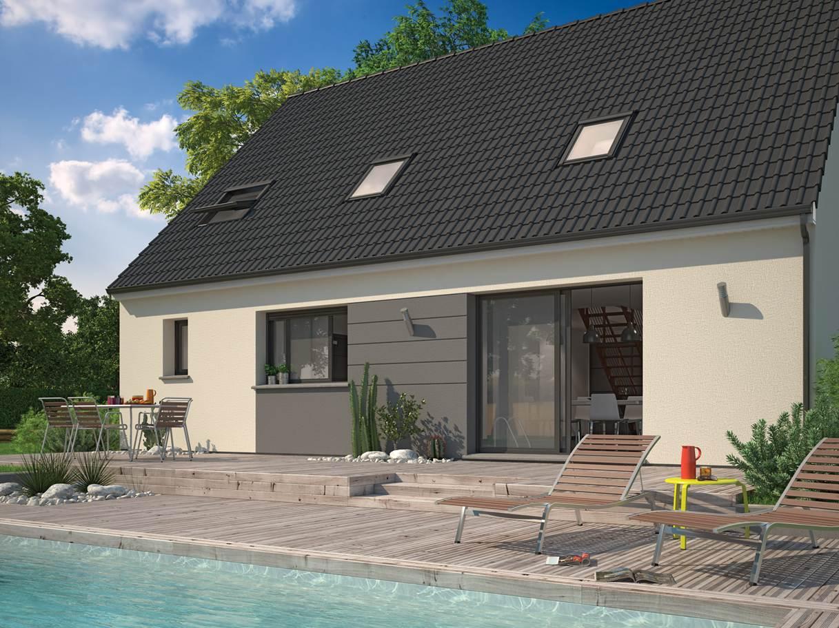 Maisons + Terrains du constructeur MAISON FAMILIALE VILLE DU BOIS • 110 m² • COURSON MONTELOUP