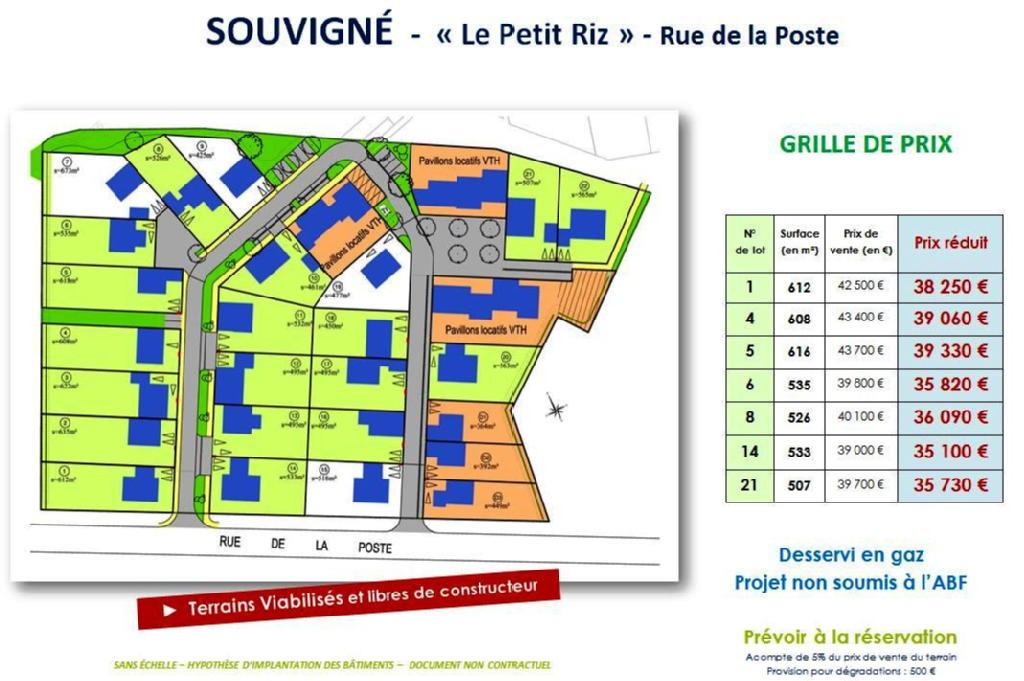 Terrains du constructeur VAL TOURAINE HABITAT • 612 m² • SOUVIGNE