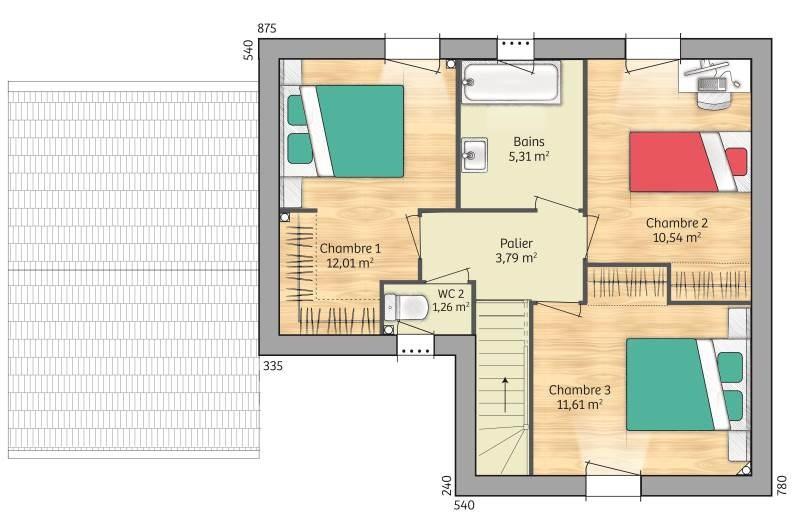 Maisons + Terrains du constructeur MAISONS FRANCE CONFORT • 90 m² • MARLES EN BRIE