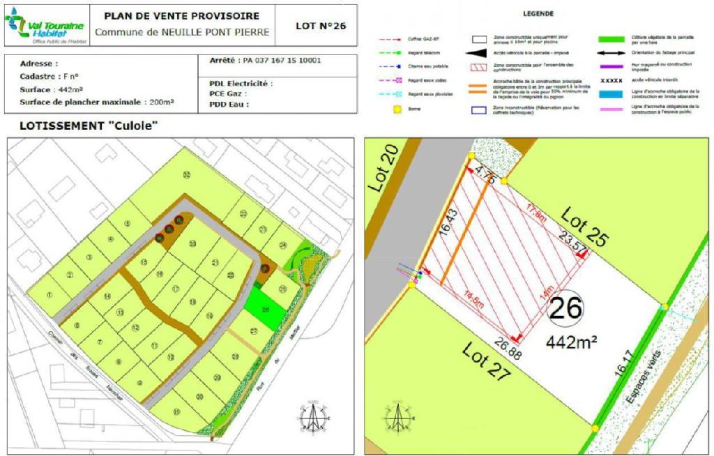 Terrains du constructeur VAL TOURAINE HABITAT • 442 m² • NEUILLE PONT PIERRE