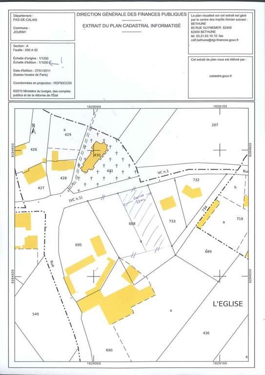 Terrains du constructeur SCP GALLET BROUSSE • 1100 m² • JOURNY