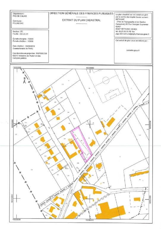 Terrains du constructeur SCP GALLET BROUSSE • 1200 m² • POLINCOVE