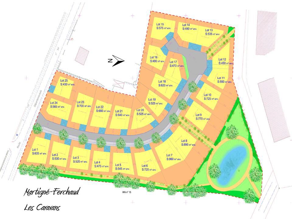 Terrains du constructeur ACANTHE • 550 m² • MARTIGNE FERCHAUD