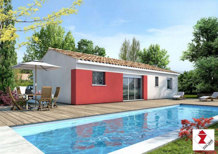 Maisons du constructeur ZIGLIANI BATISSEUR - AGENCE DE MONTPELLIER • 76 m² • SAINT PARGOIRE