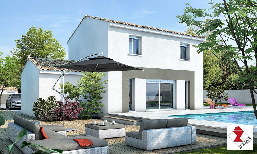 Maisons du constructeur ZIGLIANI BATISSEUR - AGENCE DE MONTPELLIER • 88 m² • SAINT MATHIEU DE TREVIERS