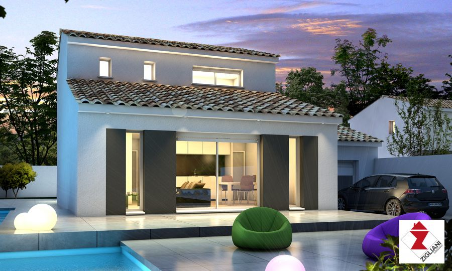 Maisons du constructeur ZIGLIANI BATISSEUR - AGENCE DE MONTPELLIER • 90 m² • SAUSSAN