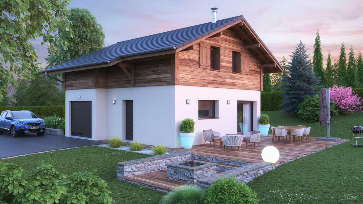 Maisons + Terrains du constructeur ARTIS • 100 m² • DOMANCY