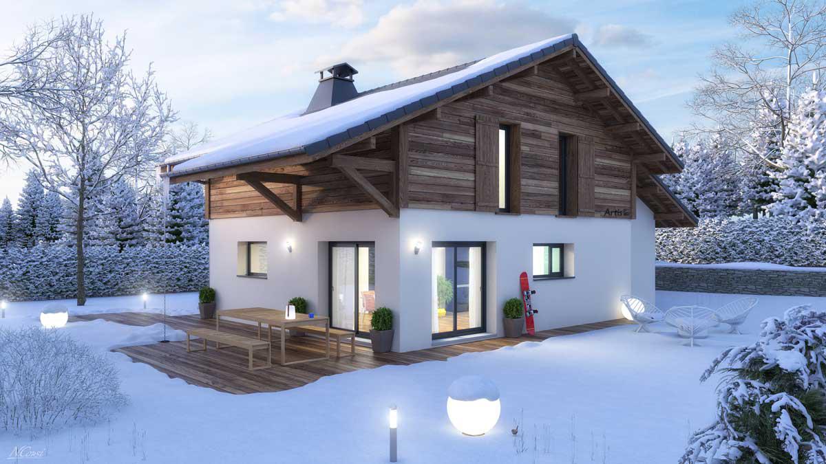 Maisons + Terrains du constructeur ARTIS • 125 m² • SAINT GERVAIS LES BAINS