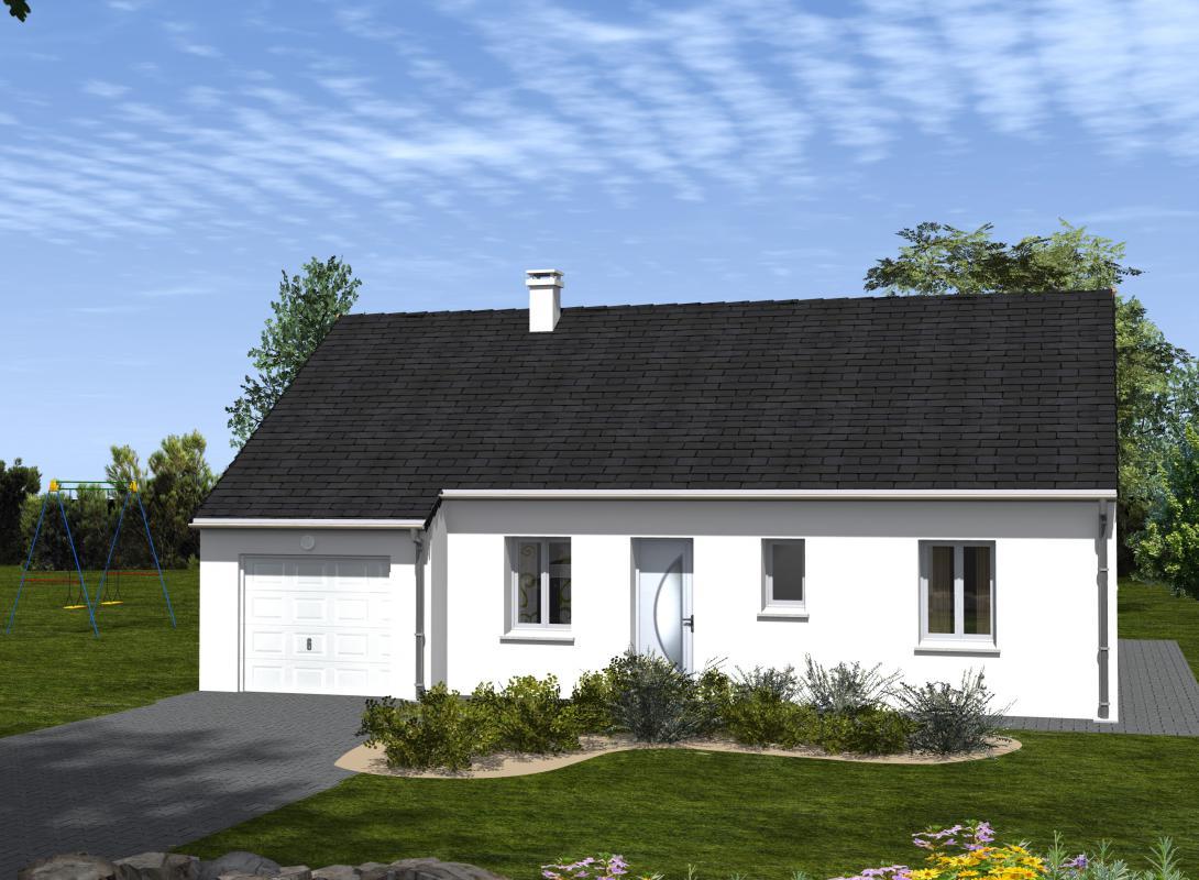 Maisons du constructeur EURO-DAREL • 73 m² • CHATEAU LA VALLIERE