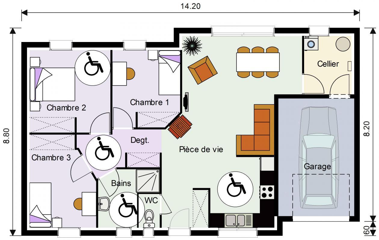 Maisons du constructeur EURO-DAREL • 85 m² • CLERE LES PINS