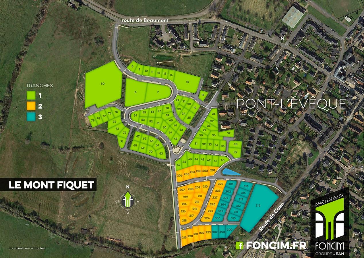 Terrains du constructeur FONCIM • 413 m² • PONT L'EVEQUE