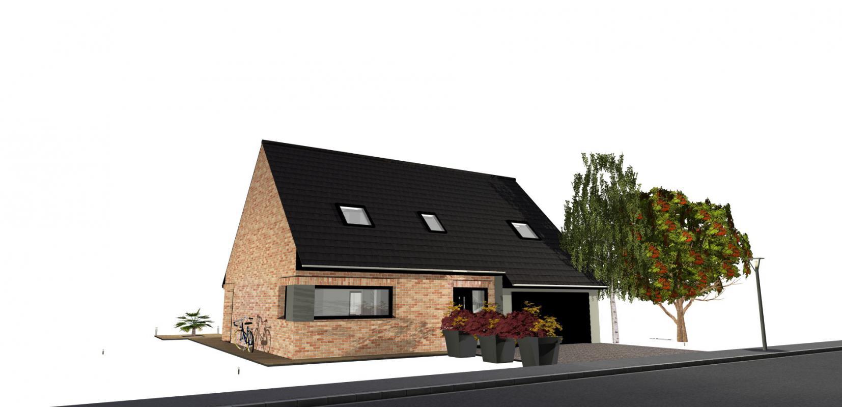 Maisons + Terrains du constructeur MAISONS D EN FRANCE NORD • 117 m² • FROMELLES
