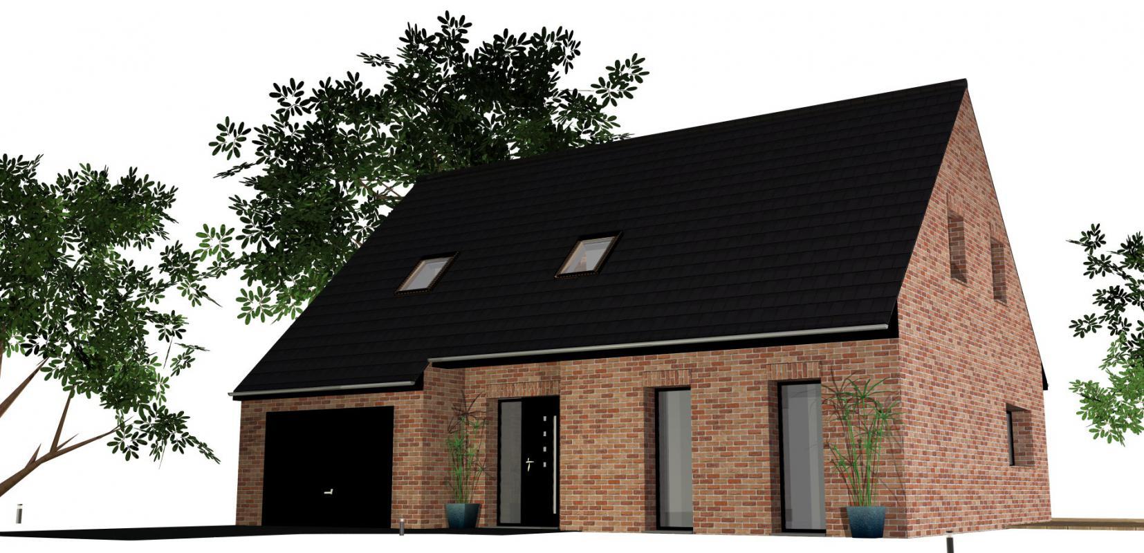 Maisons + Terrains du constructeur MAISONS D EN FRANCE NORD • 117 m² • MERRIS
