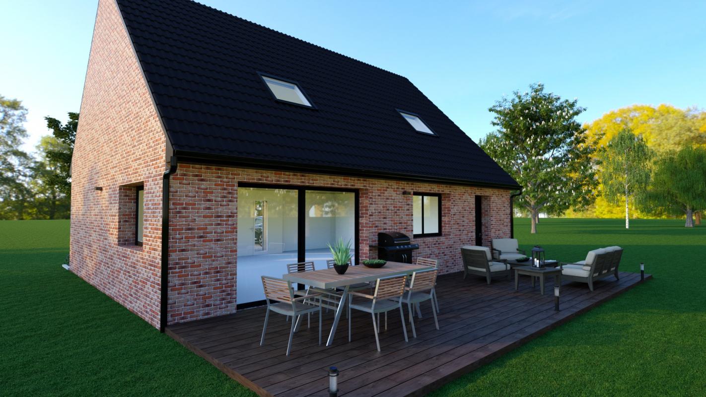 Maisons + Terrains du constructeur MAISONS D EN FRANCE NORD • 100 m² • THUMERIES