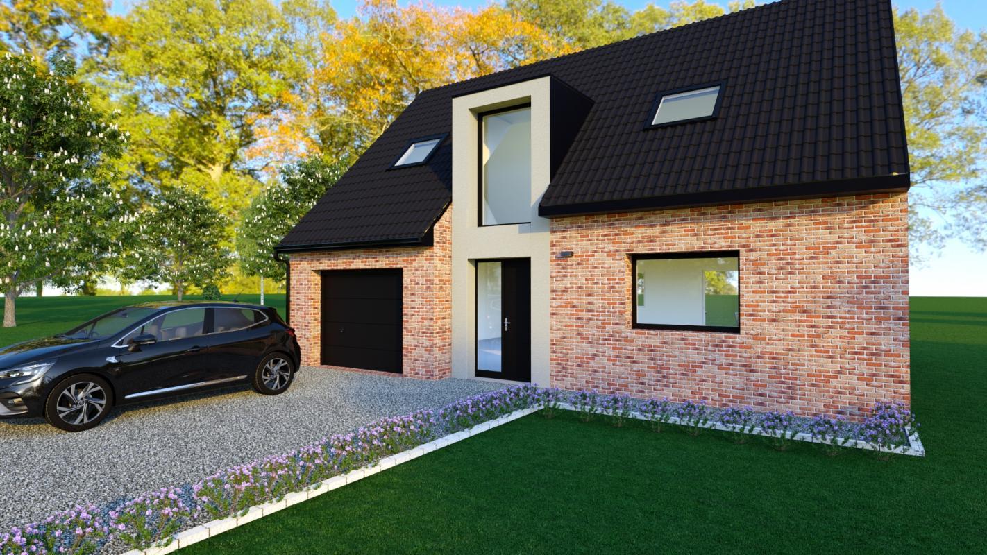 Maisons + Terrains du constructeur MAISONS D EN FRANCE NORD • 100 m² • MERRIS