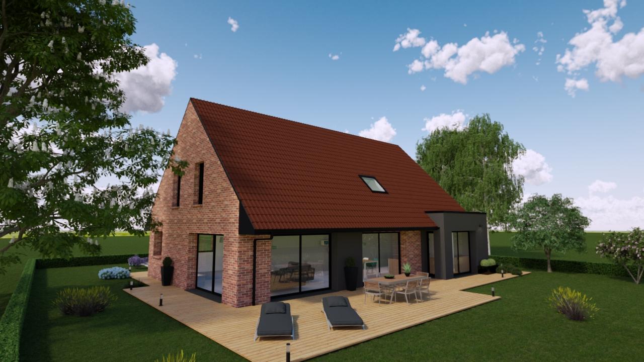 Maisons + Terrains du constructeur MAISONS D EN FRANCE NORD • 150 m² • MONS EN PEVELE