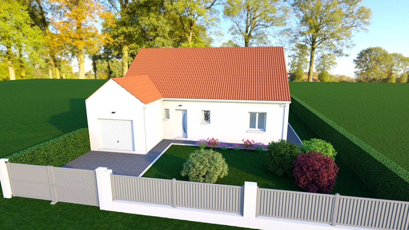 Maisons + Terrains du constructeur MAISONS DONA • 90 m² • BOURGES