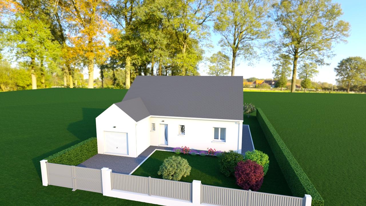 Maisons + Terrains du constructeur MAISONS DONA • 100 m² • SAINT MARTIN D'AUXIGNY