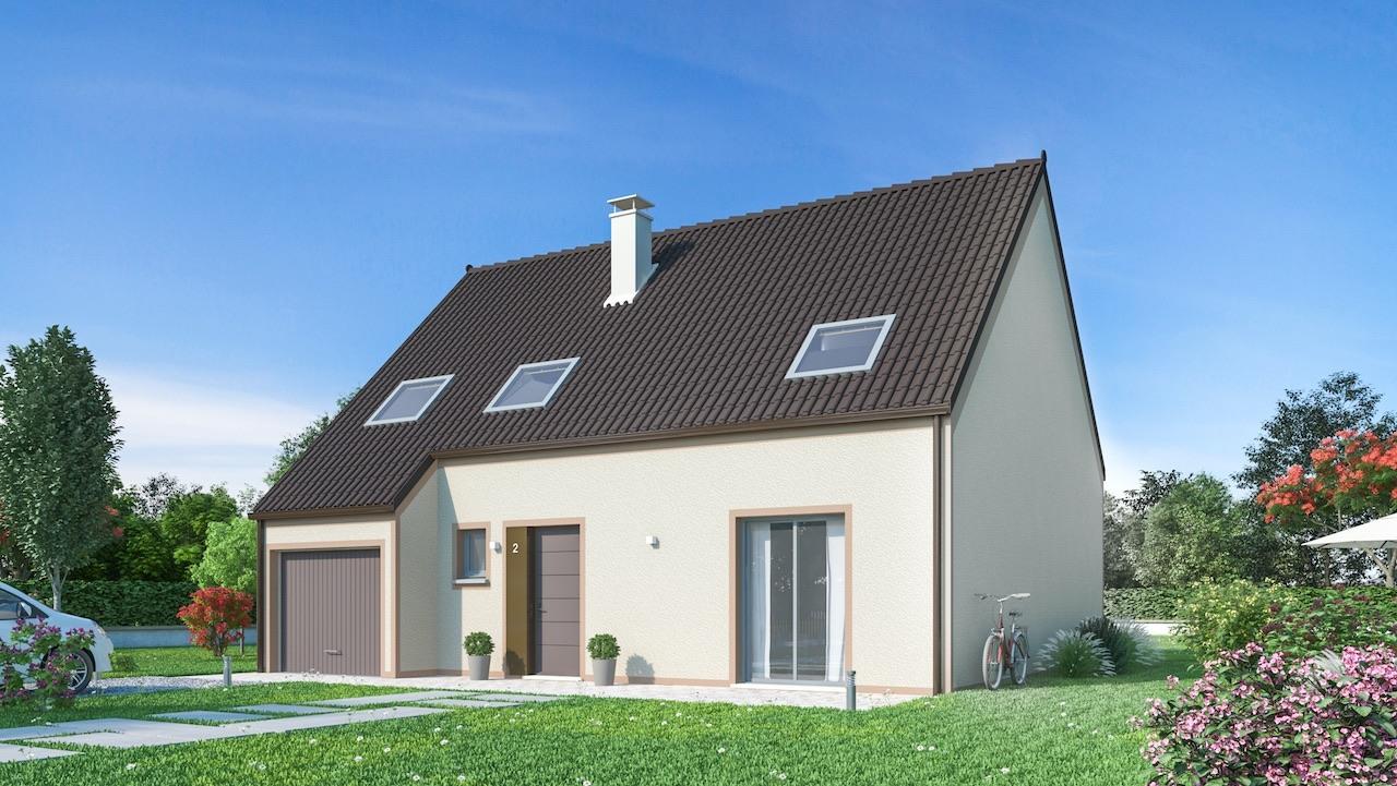 Maisons + Terrains du constructeur MAISONS PHENIX • 132 m² • ROINVILLE