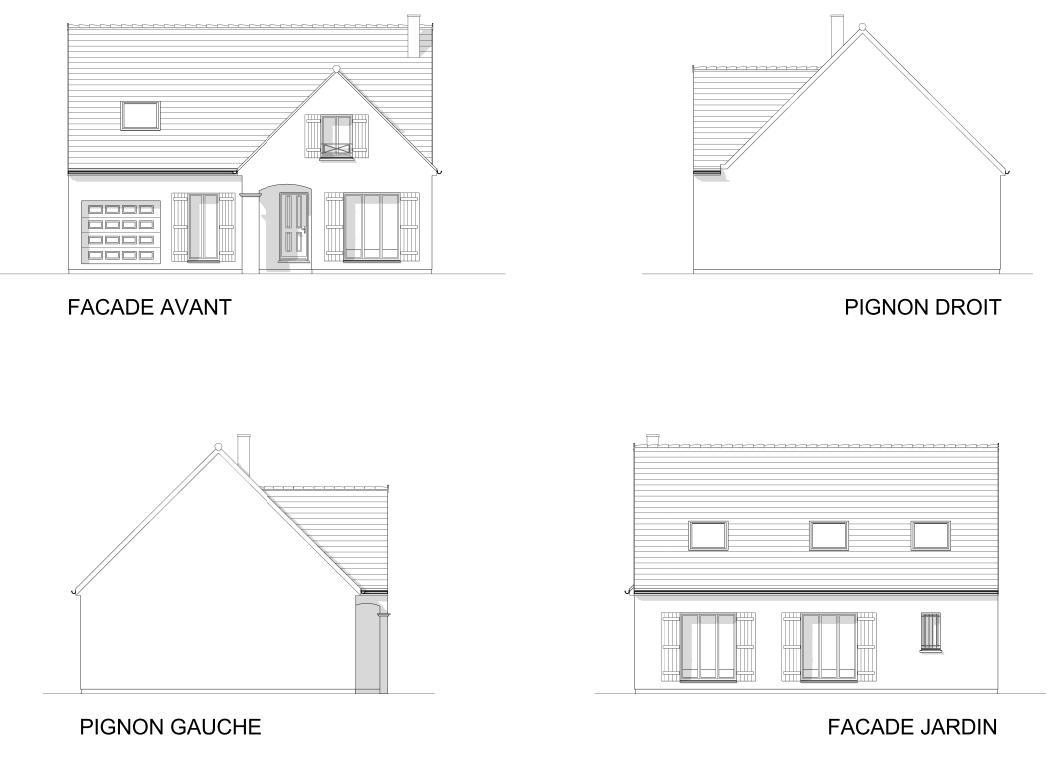 Maisons + Terrains du constructeur MAISON FAMILIALE • 116 m² • COURSON MONTELOUP