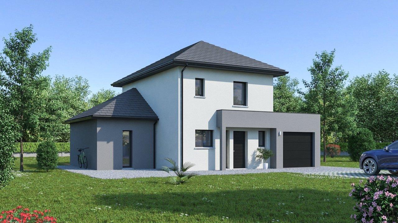 Maisons + Terrains du constructeur MAISON FAMILIALE • 111 m² • SAINT MARTIN EN BIERE
