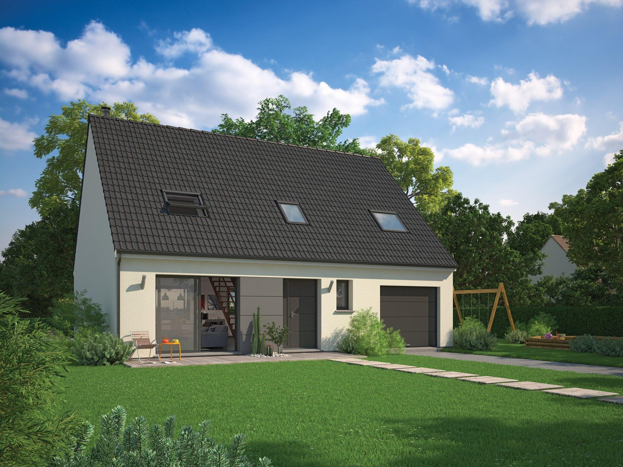 Maisons + Terrains du constructeur MAISON FAMILIALE • 100 m² • RONQUEROLLES