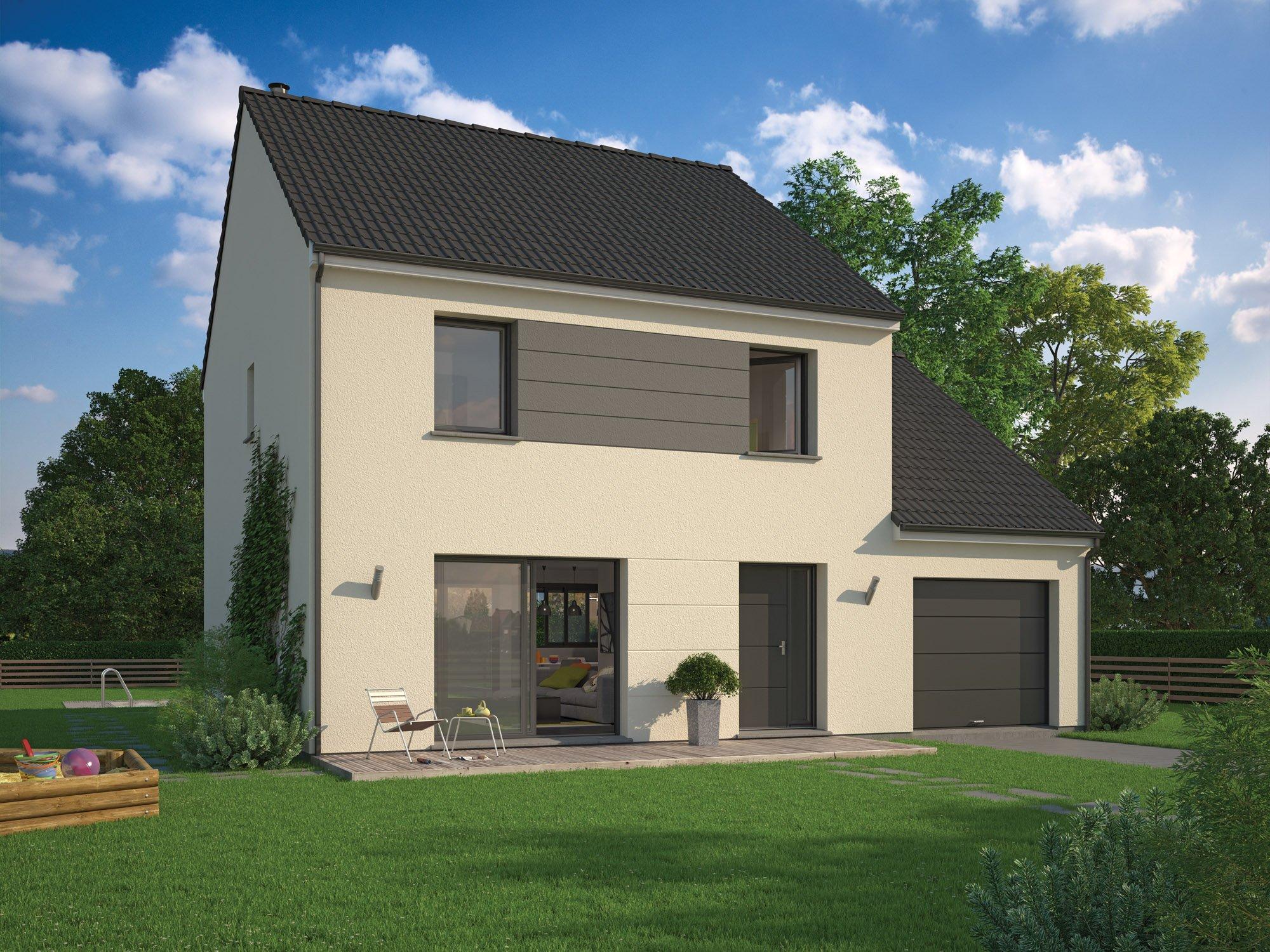 Maisons + Terrains du constructeur MAISON FAMILIALE • 128 m² • RONQUEROLLES