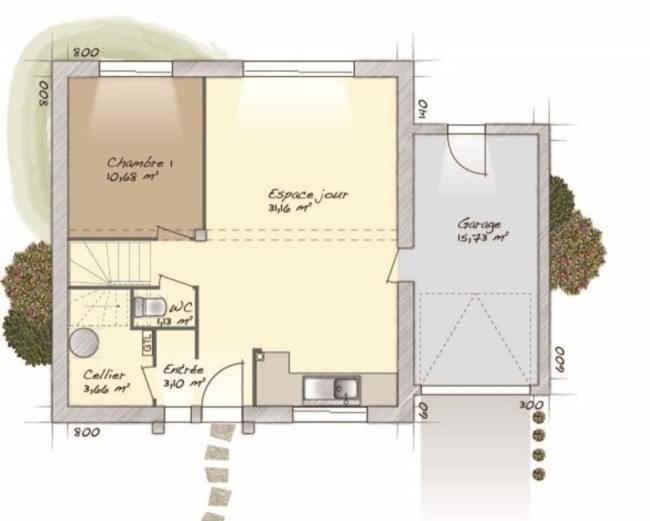 Maisons + Terrains du constructeur MAISONS BALENCY • 98 m² • OISSEL