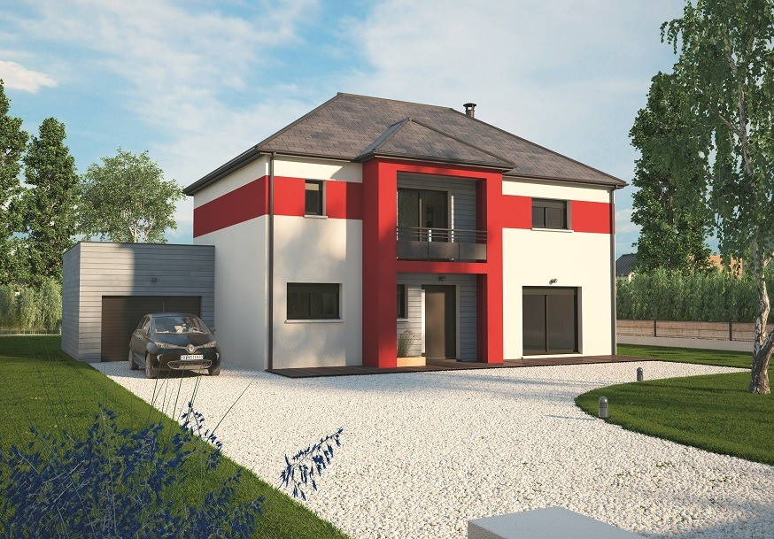 Maisons + Terrains du constructeur MAISONS BALENCY • 160 m² • ROUGE PERRIERS