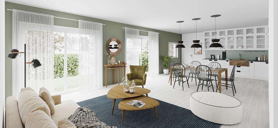 Maisons + Terrains du constructeur MAISONS FRANCE CONFORT • 110 m² • CUISERY