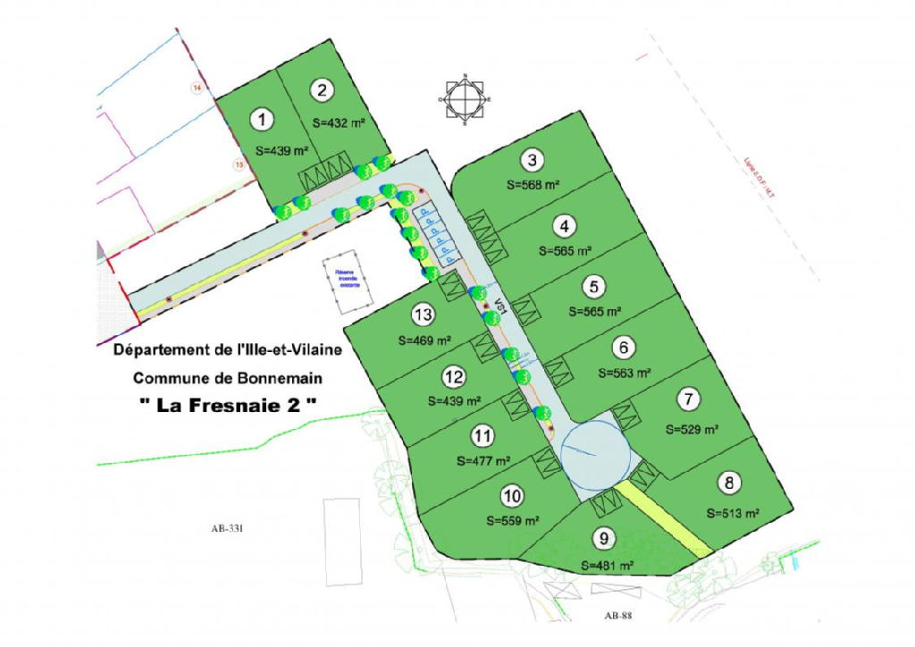 Terrains du constructeur ACANTHE • 568 m² • BONNEMAIN