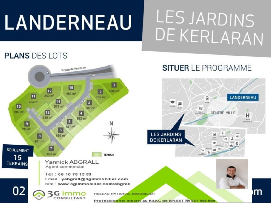 Terrains du constructeur 3G IMMO-CONSULTANT • 969 m² • LANDERNEAU