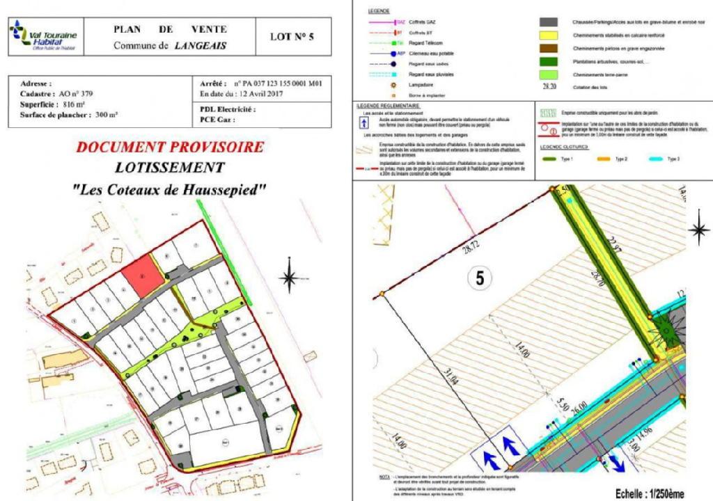 Terrains du constructeur VAL TOURAINE HABITAT • 816 m² • LANGEAIS