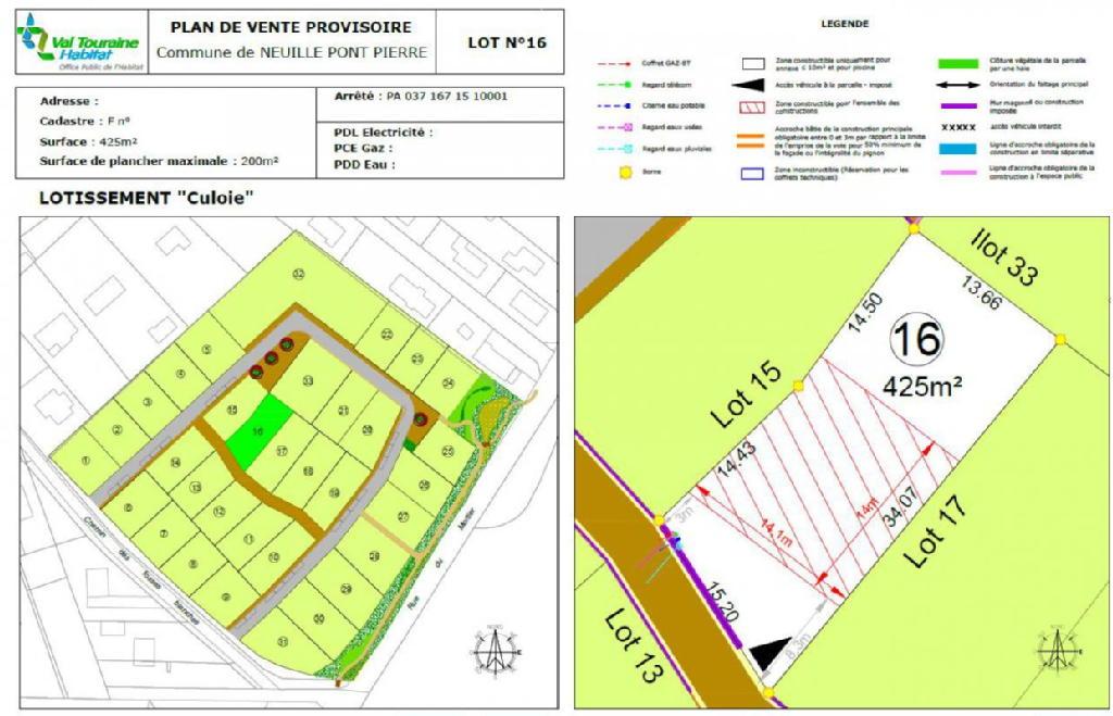 Terrains du constructeur VAL TOURAINE HABITAT • 425 m² • NEUILLE PONT PIERRE
