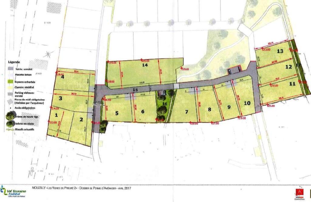 Terrains du constructeur VAL TOURAINE HABITAT • 589 m² • NOUZILLY
