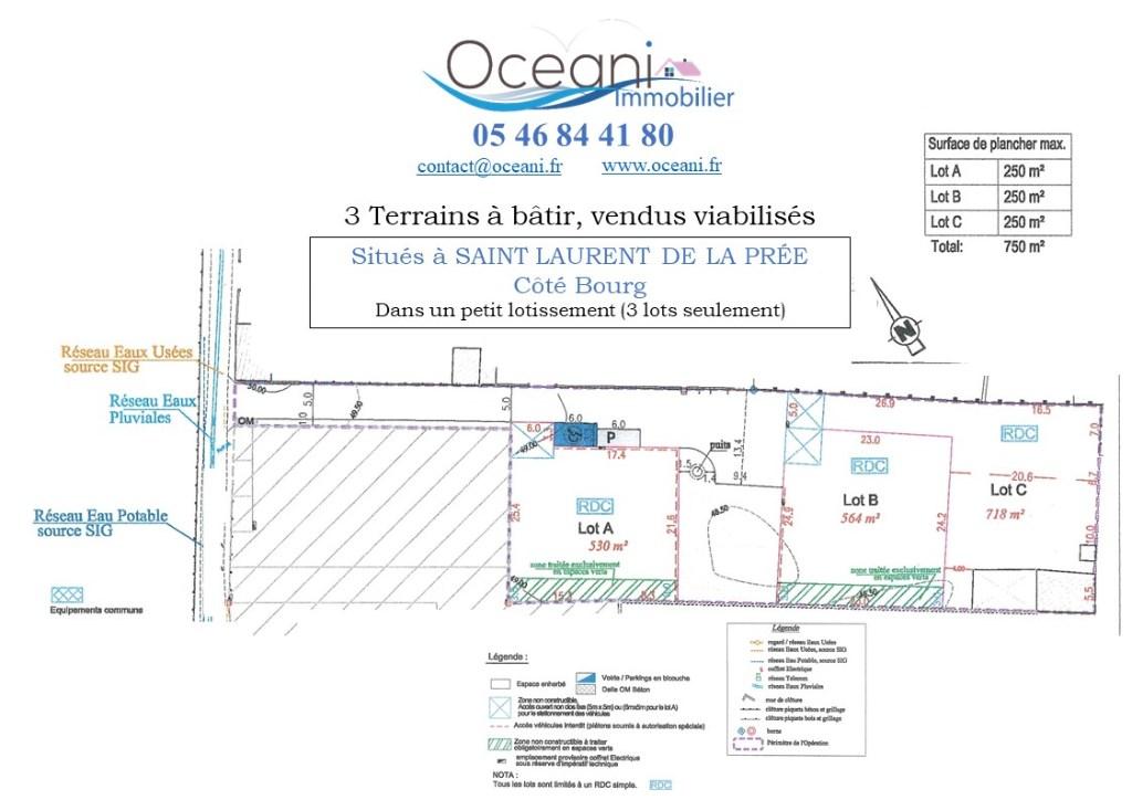 Terrains du constructeur OCEANI IMMOBILIER • 718 m² • SAINT LAURENT DE LA PREE
