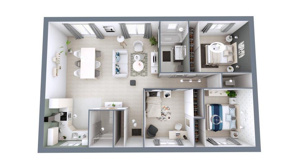 Maisons + Terrains du constructeur Maisons MCA Tresses • 100 m² • SADIRAC