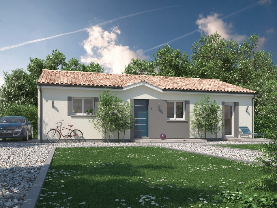 Maisons + Terrains du constructeur Maisons MCA Tresses • 100 m² • CREON