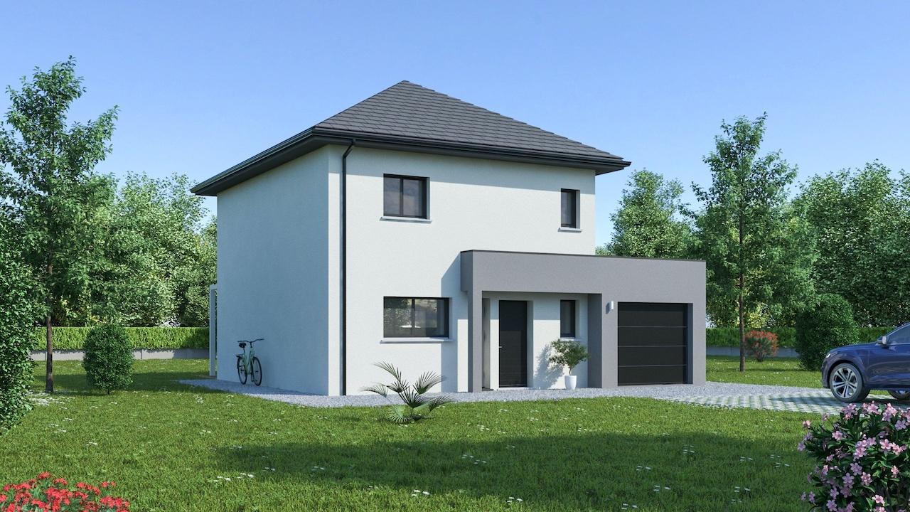 Maisons + Terrains du constructeur MAISON FAMILIALE • 108 m² • GOUSSAINVILLE